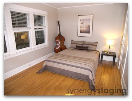 Guest Room staged by Synergy Staging in Portland