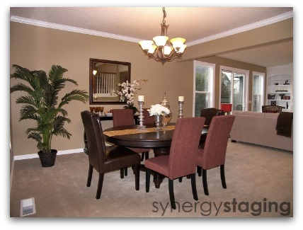 Dining Room staged by Synergy Staging in Newberg