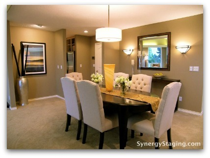 Elizabeth - Dining Room staged by Synergy Staging in Portland