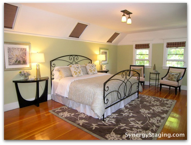 Flanders - Bedroom staged by Synergy Staging in Portland