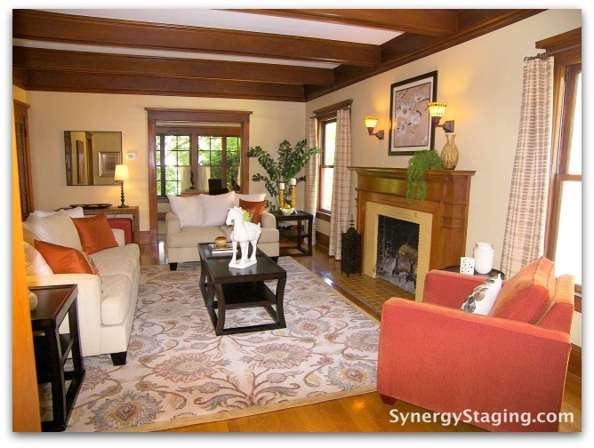 Flanders - Living Room staged by Synergy Staging in Portland