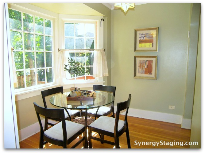 Flanders - Kitchen Nook staged by Synergy Staging in Portland
