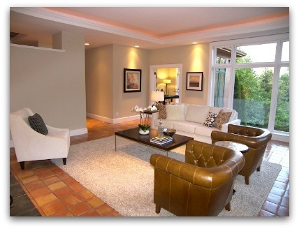 Living Room staged by Synergy Staging in Portland