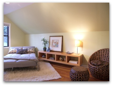 Loft staged by Synergy Staging in Portland