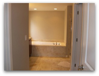 Master Bathroom before Home Staging