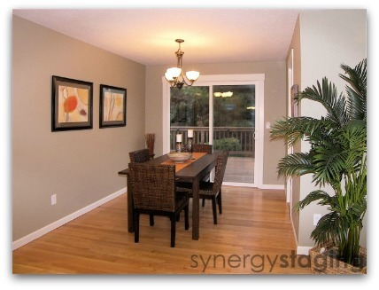 Dining Room staged by Synergy Staging
