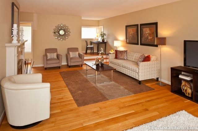 Living Room Staged by Synergy Staging in Portland Oregon