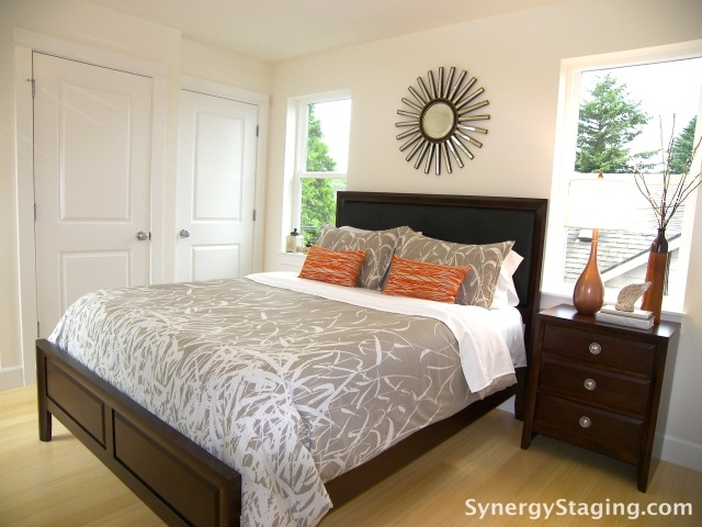 Svaboda Court - Bedroom staged by Synergy Staging
