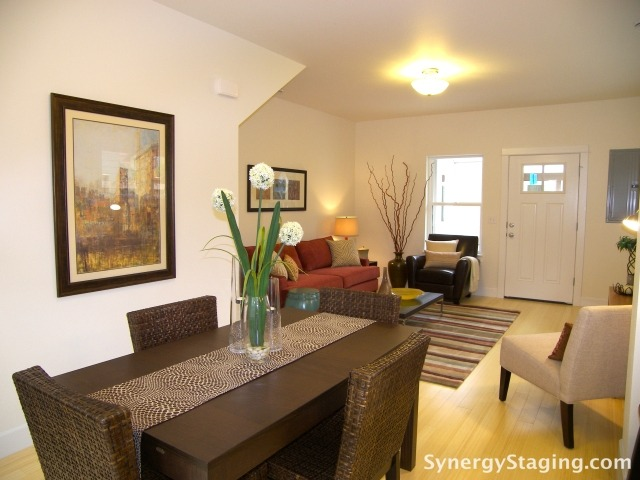 Svaboda Court - Dining Room staged by Synergy Staging